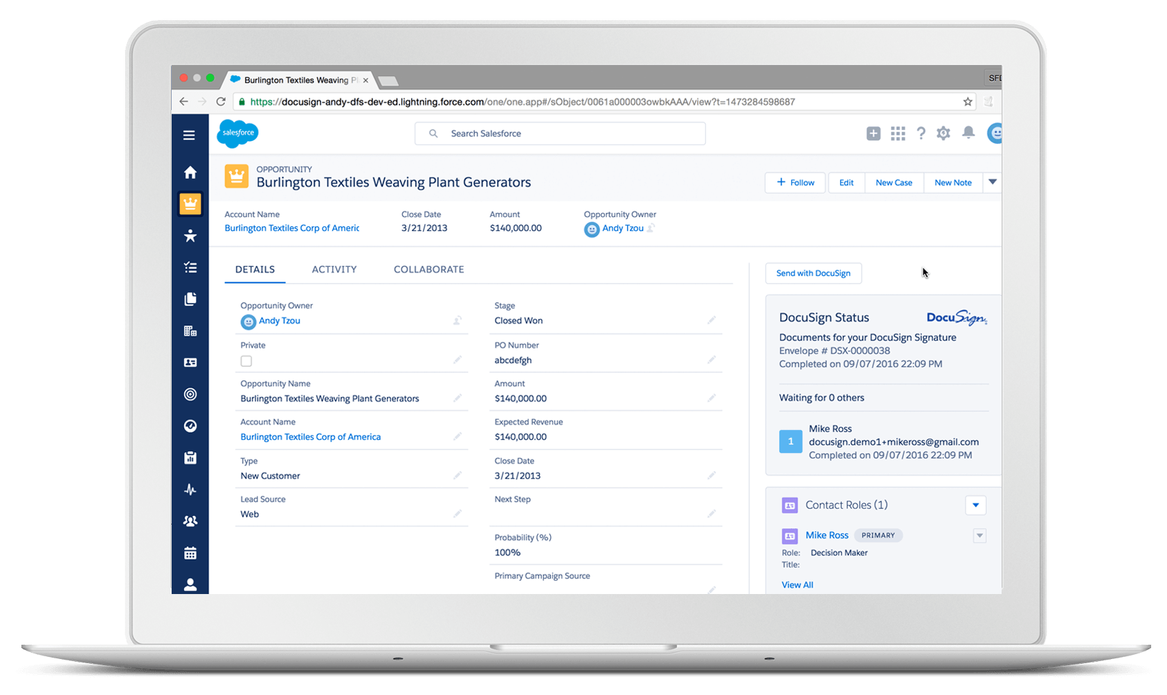 Wij introduceren DocuSign voor Salesforce Lightning