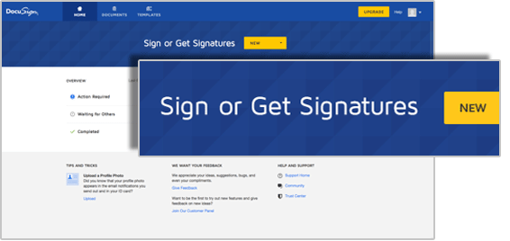 Upload een document naar DocuSign