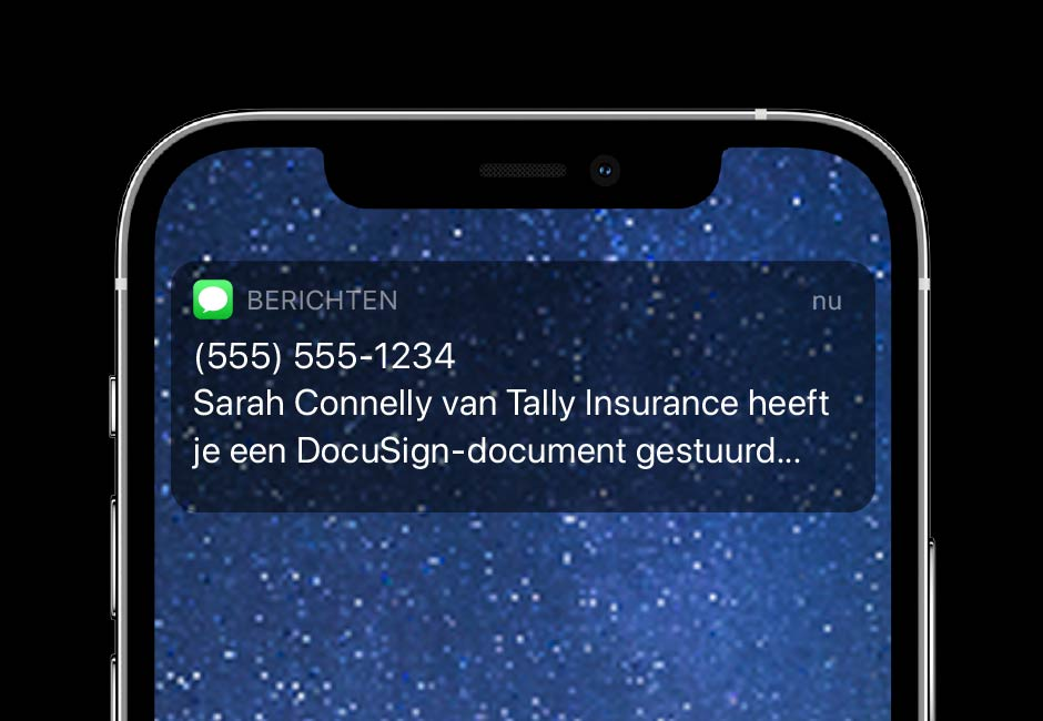 DocuSign eSignature SMS Delivery zorgt ervoor dat je realtime SMS notificaties kunt sturen.